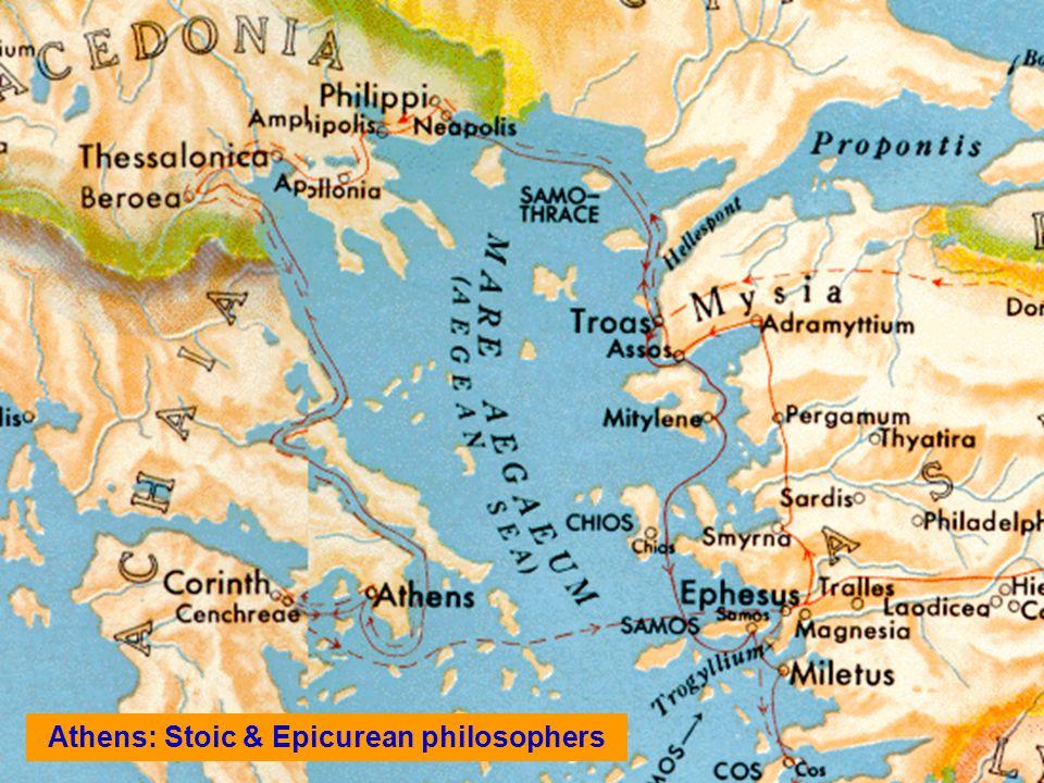 Athens: Stoic & Epicurean philosophers