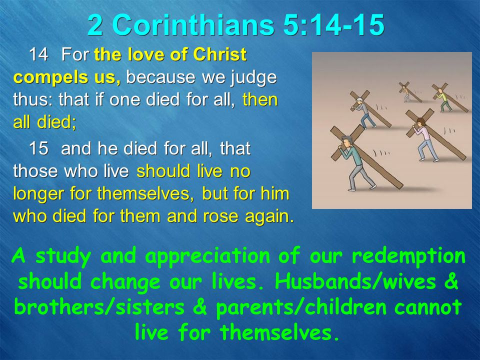 Results of Sin - Mortality Adam & Eve became mortal: –for dust you are, and to dust you shall return (Gen 3:19) All their descendents inherit mortality: –just as through one man sin entered the world, and death through sin, and thus death spread to all men, because all sinned– (Rom 5:12) Adam & Eve became mortal: –for dust you are, and to dust you shall return (Gen 3:19) All their descendents inherit mortality: –just as through one man sin entered the world, and death through sin, and thus death spread to all men, because all sinned– (Rom 5:12)