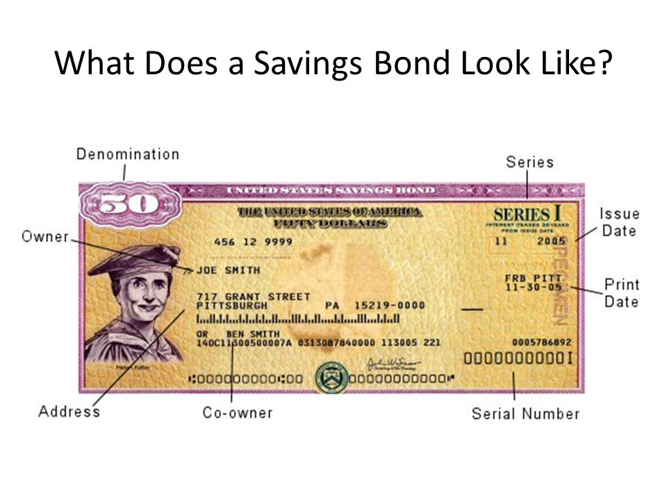 What Does a Savings Bond Look Like