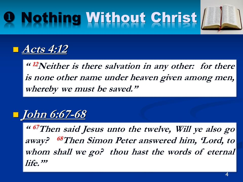 25 1.Nothing Without Christ 2. Nothing Without Love 3.