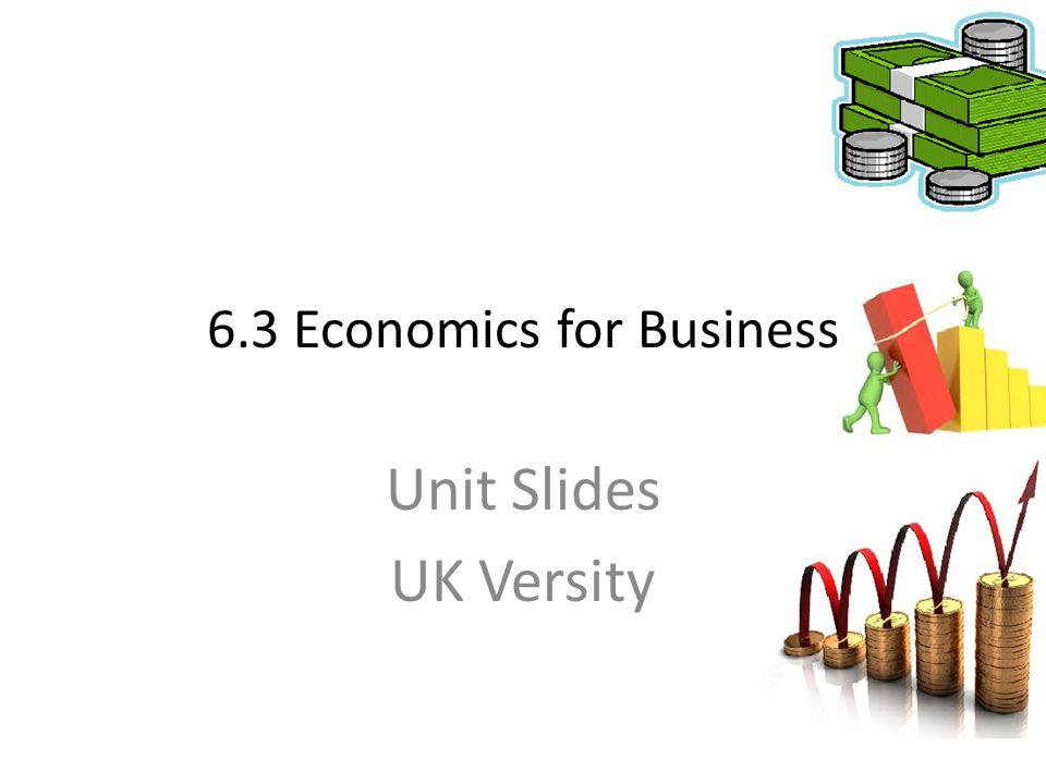 6.3 Economics for Business Unit Slides UK Versity