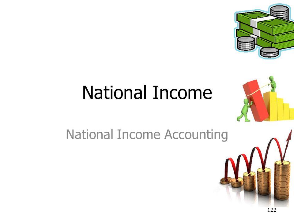 122 National Income National Income Accounting