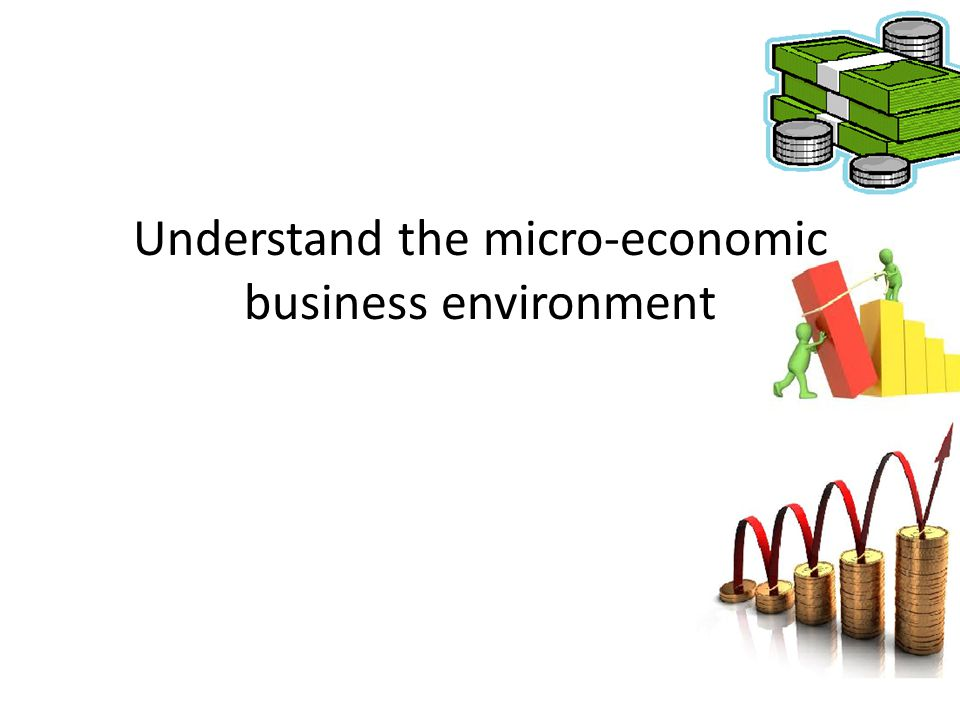 Understand the micro-economic business environment