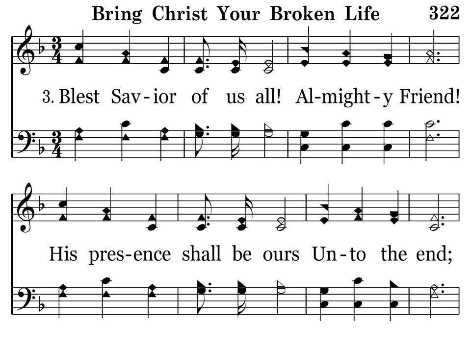 322 - Bring Christ Your Broken Life - 3.1