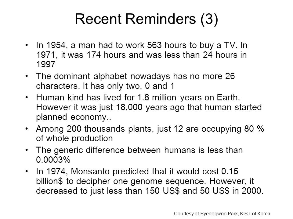 Recent Reminders (3) In 1954, a man had to work 563 hours to buy a TV.