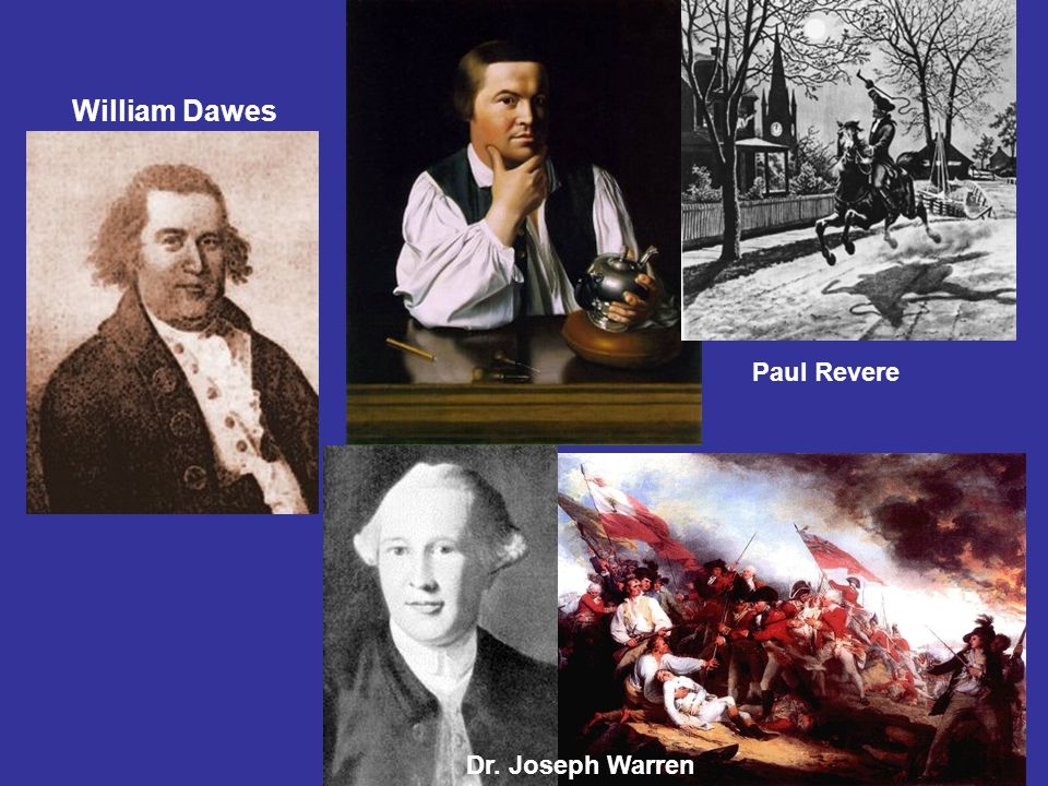 Paul Revere Dr. Joseph Warren William Dawes