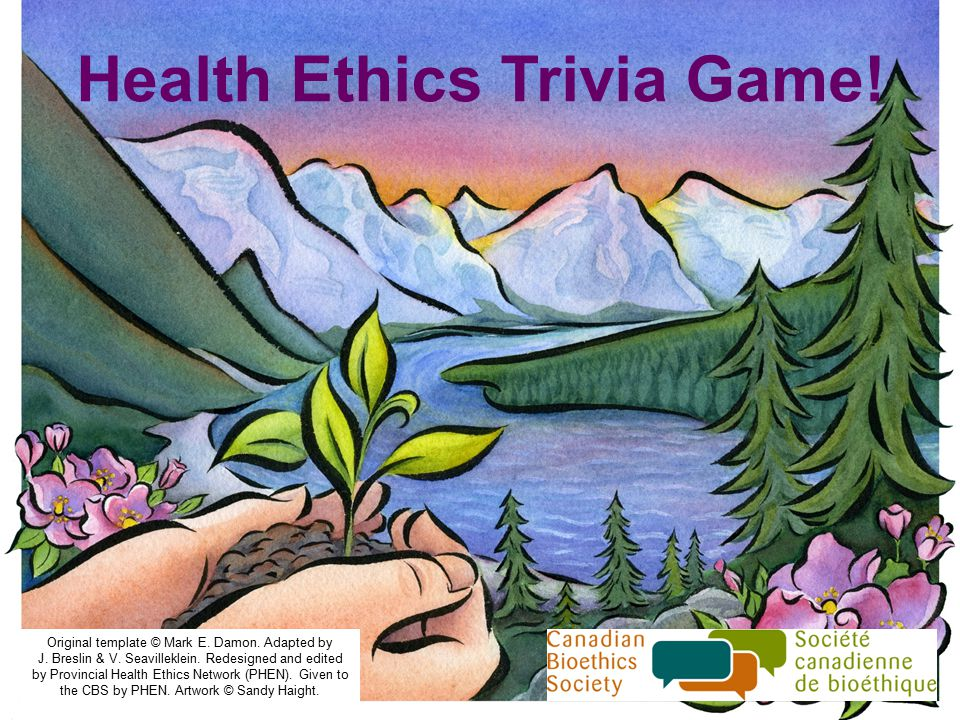 Health Ethics Trivia Game. Original template © Mark E.