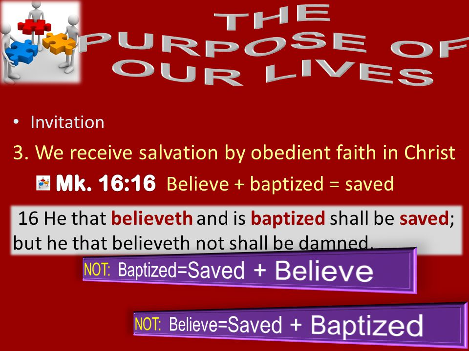 54 16 He that believeth and is baptized shall be saved; but he that believeth not shall be damned.