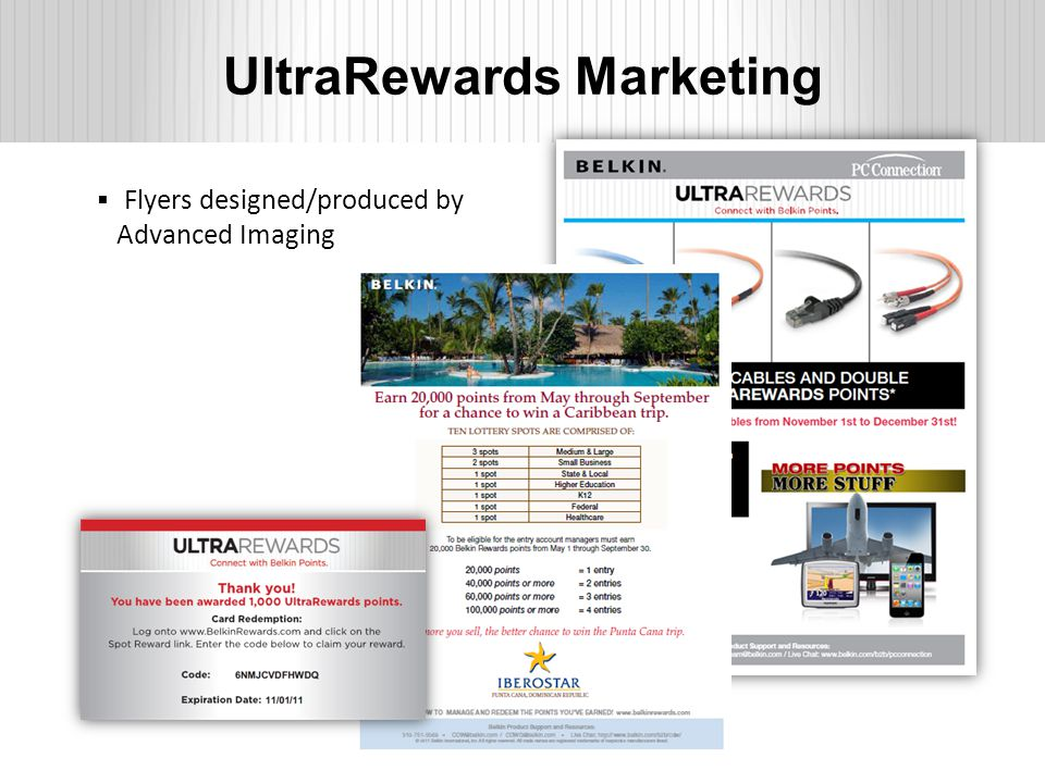 UltraRewards Marketing  Flyers designed/produced by Advanced Imaging