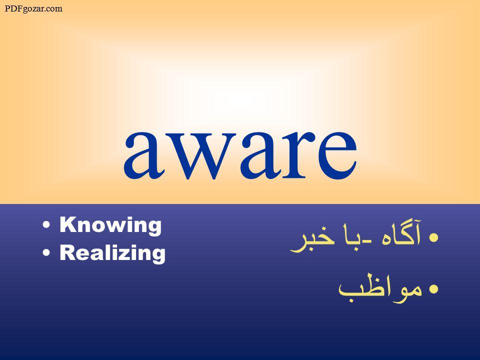 aware Knowing Realizing آگاه - با خبر مواظب PDFgozar.com