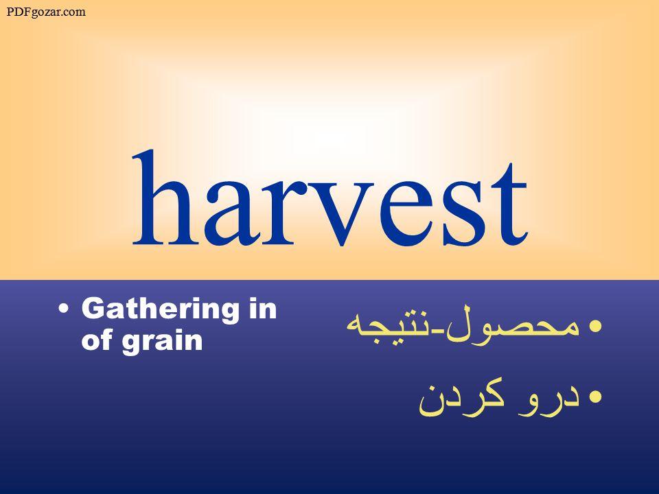 harvest Gathering in of grain محصول - نتيجه درو كردن PDFgozar.com