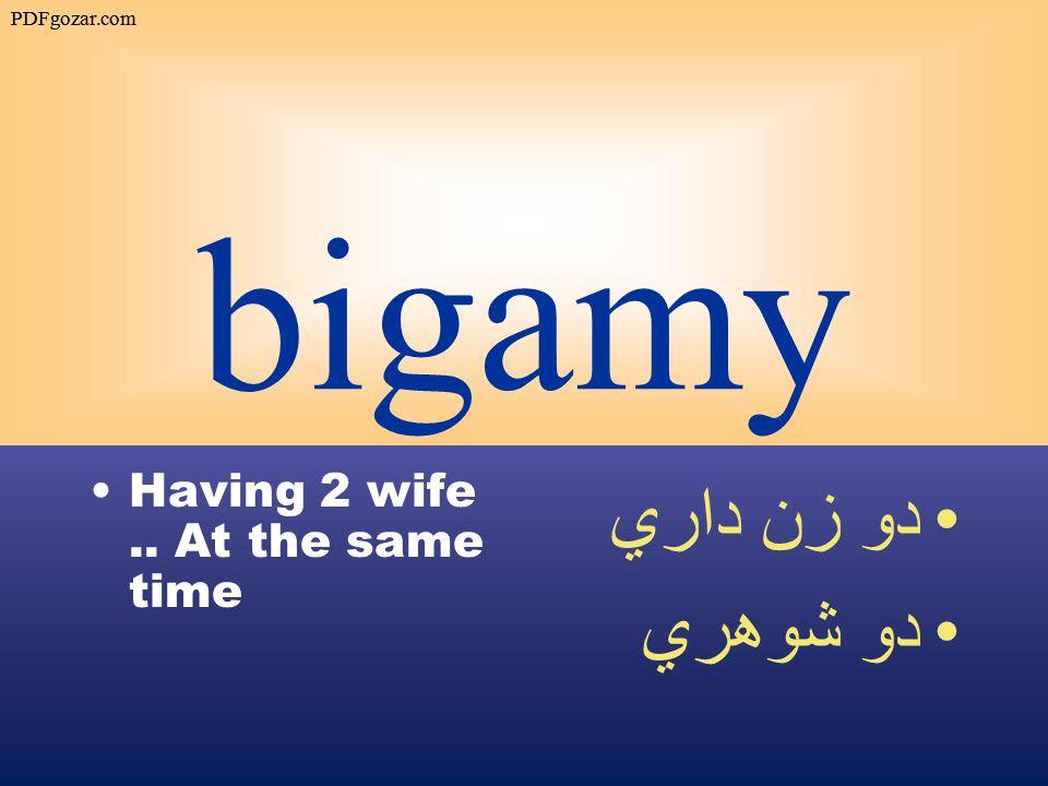 bigamy Having 2 wife.. At the same time دو زن داري دو شوهري PDFgozar.com