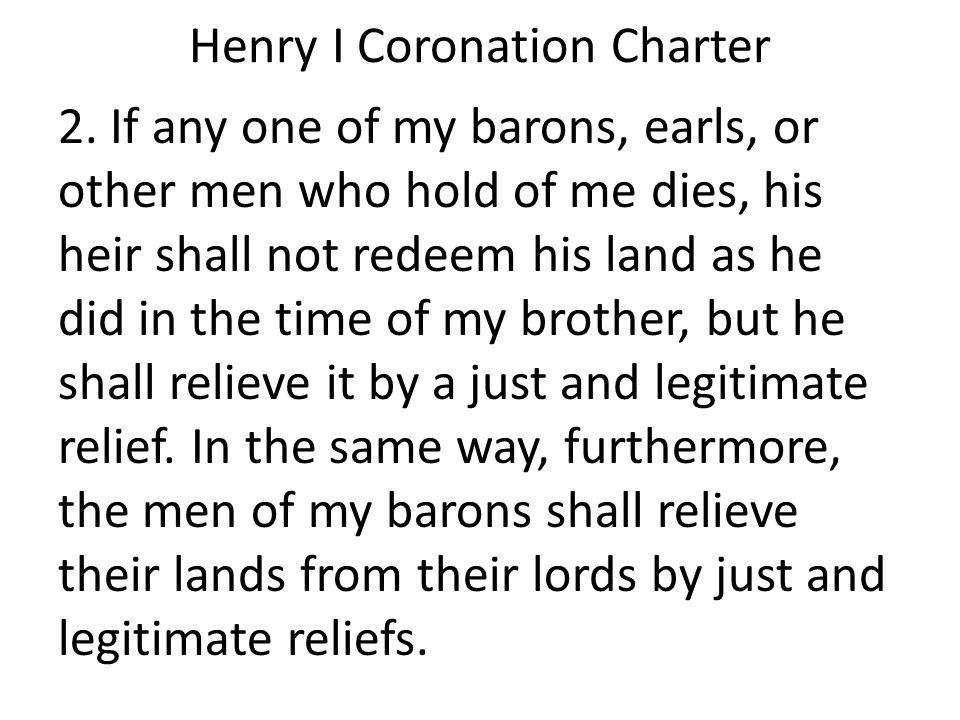 Henry I Coronation Charter 2.