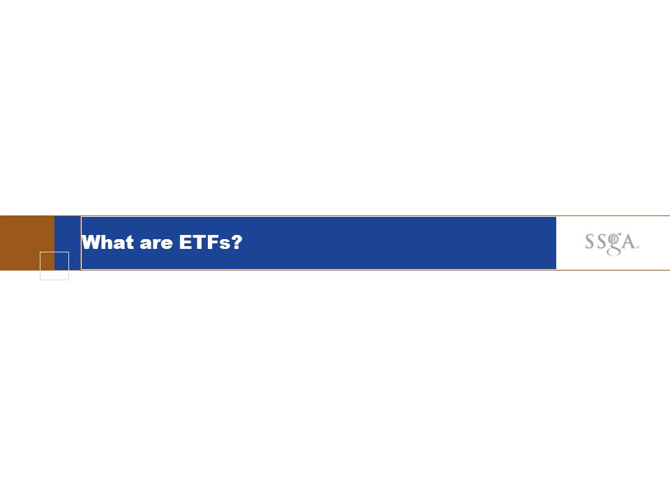 24 Applications of ETFs Equitize Cash Inflows Avoid drag of cash position on equity portfolio returns achieve temporary equity exposure until portfolio manager decides which stocks to buy