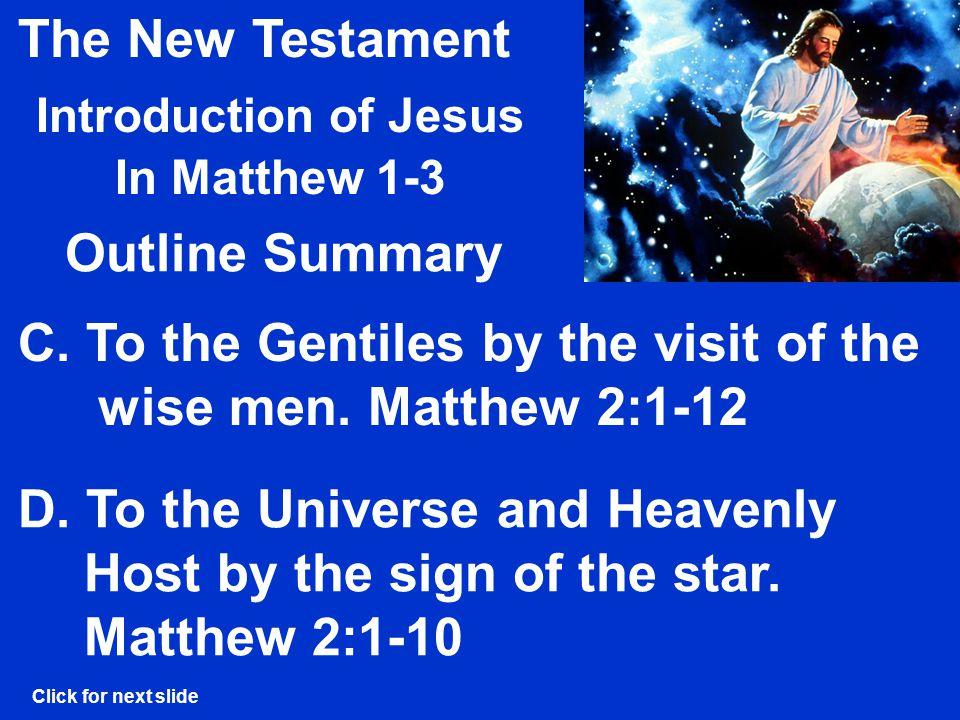 The New Testament Introduction of Jesus In Matthew 1-3 Thamar (Tamar) - Matthew 1:3 A.