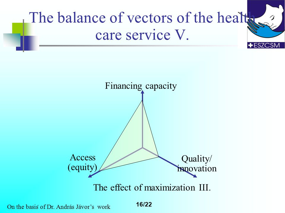 16/22 The balance of vectors of the health care service V.