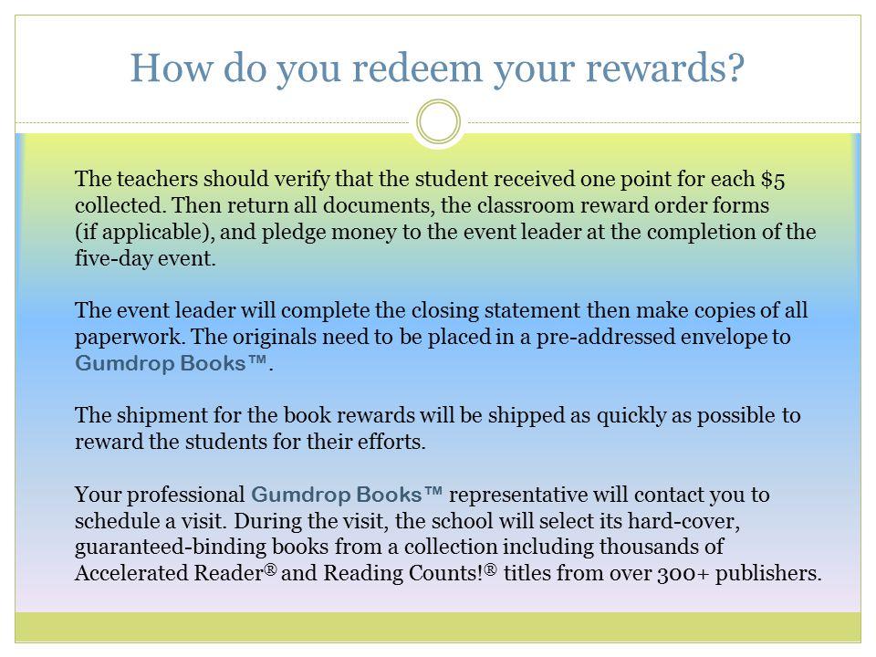How do you redeem your rewards.