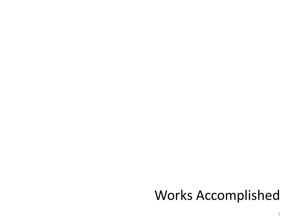 1 Works Accomplished