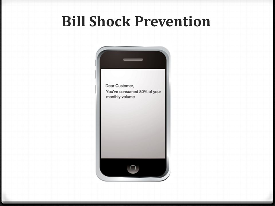 Bill Shock Prevention