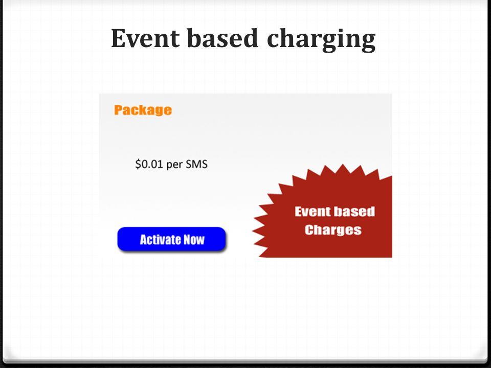 Event based charging