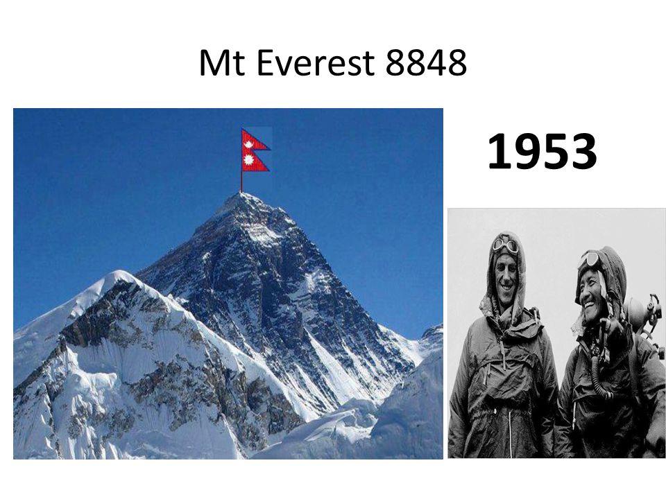 Mt Everest 8848 1953
