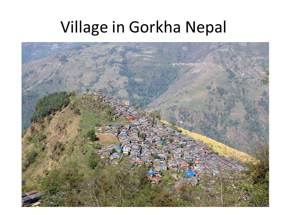 Village in Gorkha Nepal