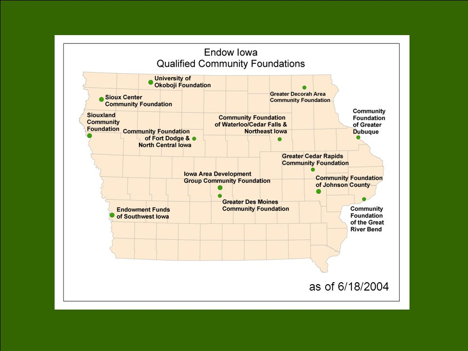 County Endowment Funds Cali Beals cali.beals@ided.state.ia.us 515.242.4723
