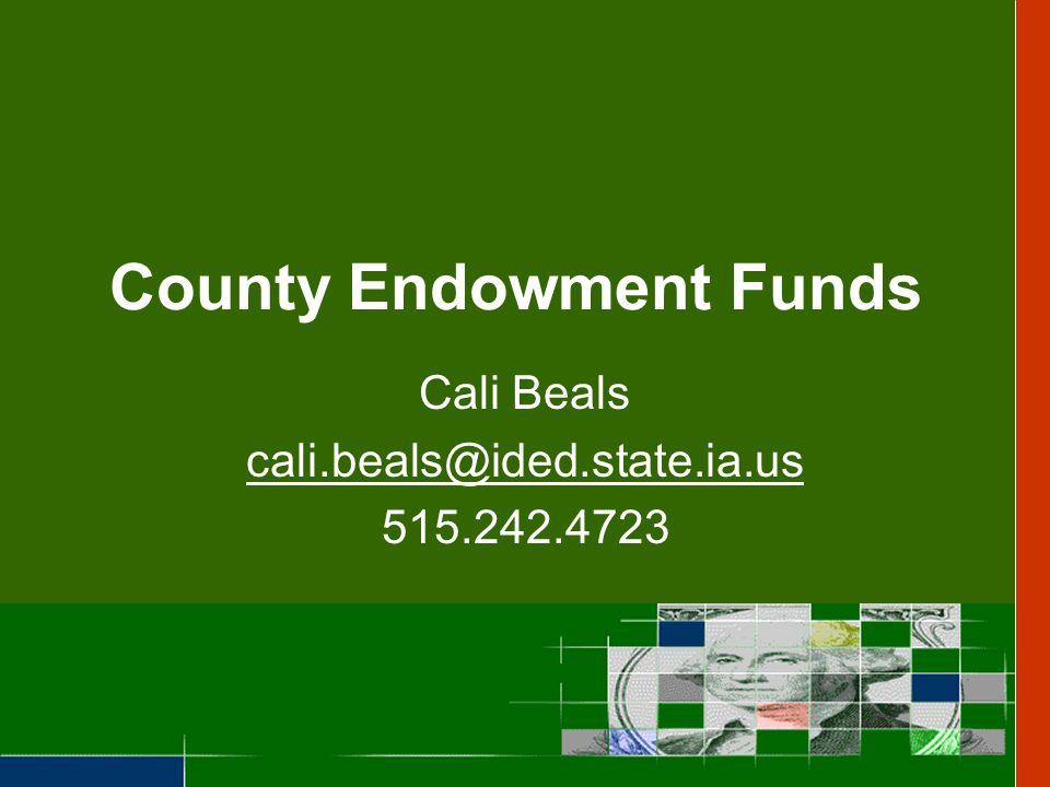 County Endowment Funds WHAT.Gambling revenue enhancing county-wide philanthropy in Iowa.