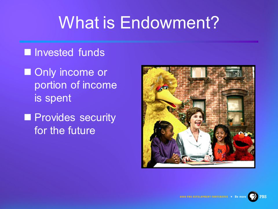 What is Endowment.