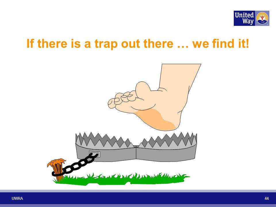UWRA 44 If there is a trap out there … we find it!