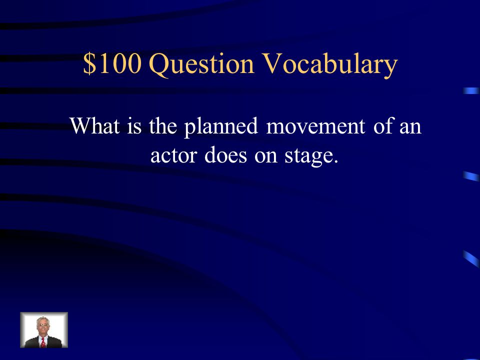 $500 Answer Design Elements Set Design & Lighting Design Lighting Designers are responsible for setting the mood of the play using lights.