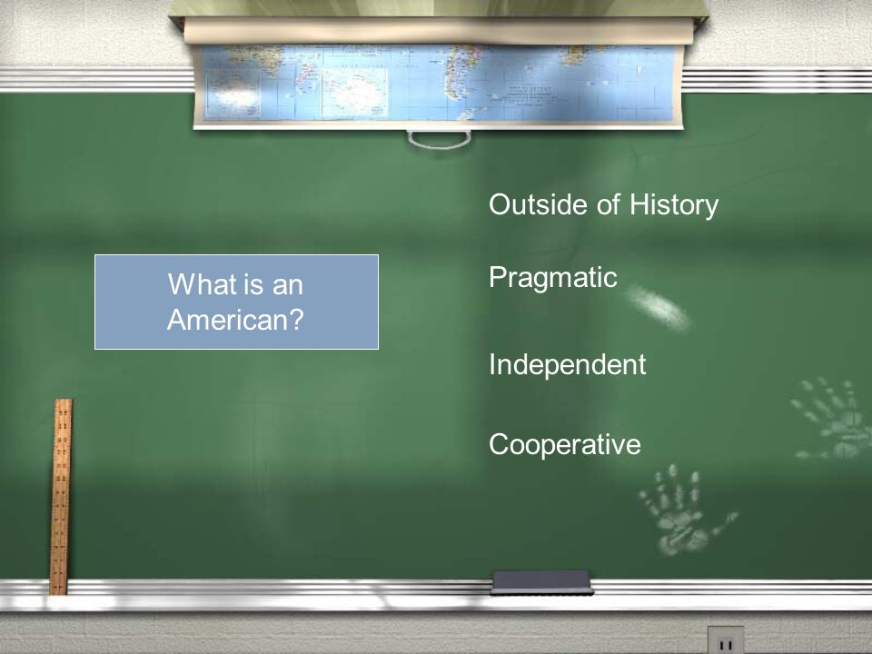 What is an American Outside of History Pragmatic Independent Cooperative
