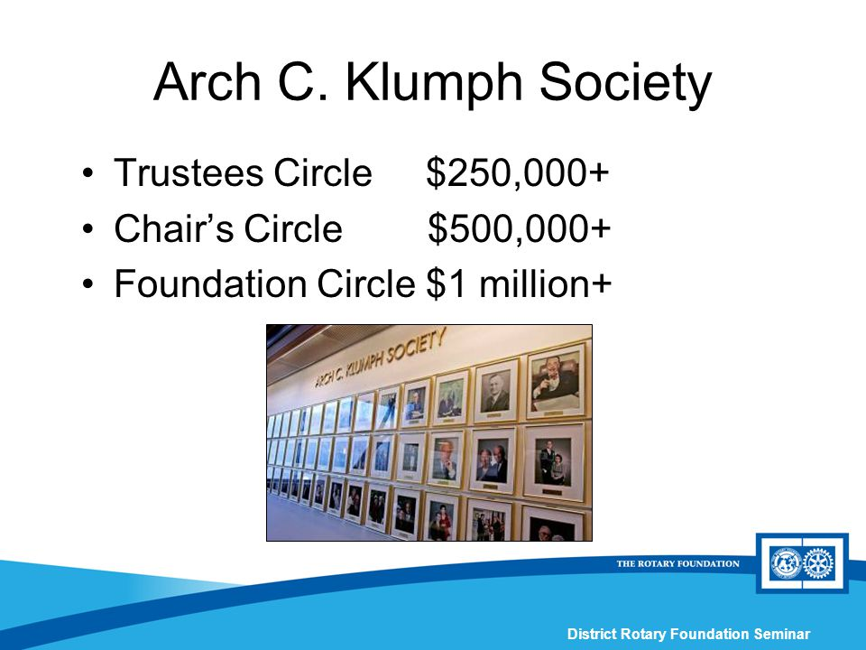 District Rotary Foundation Seminar Arch C.