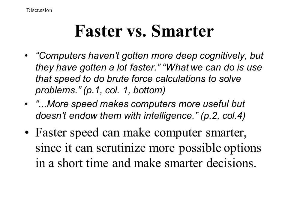 Faster vs.