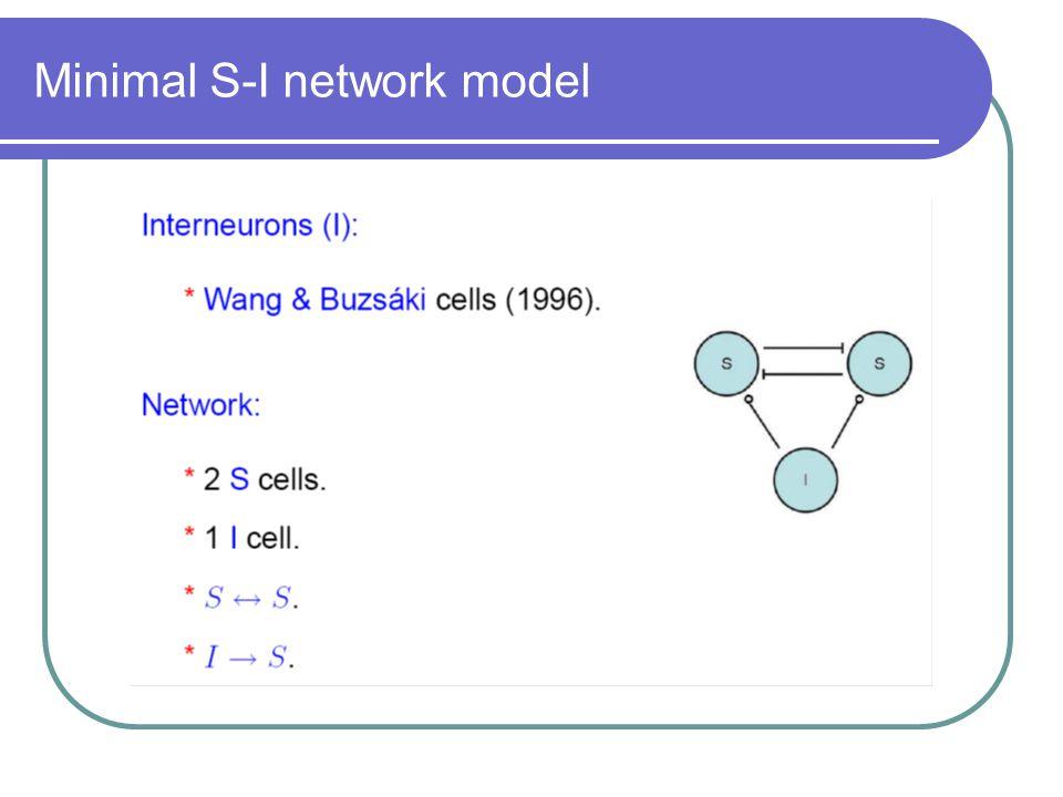 Minimal S-I network model