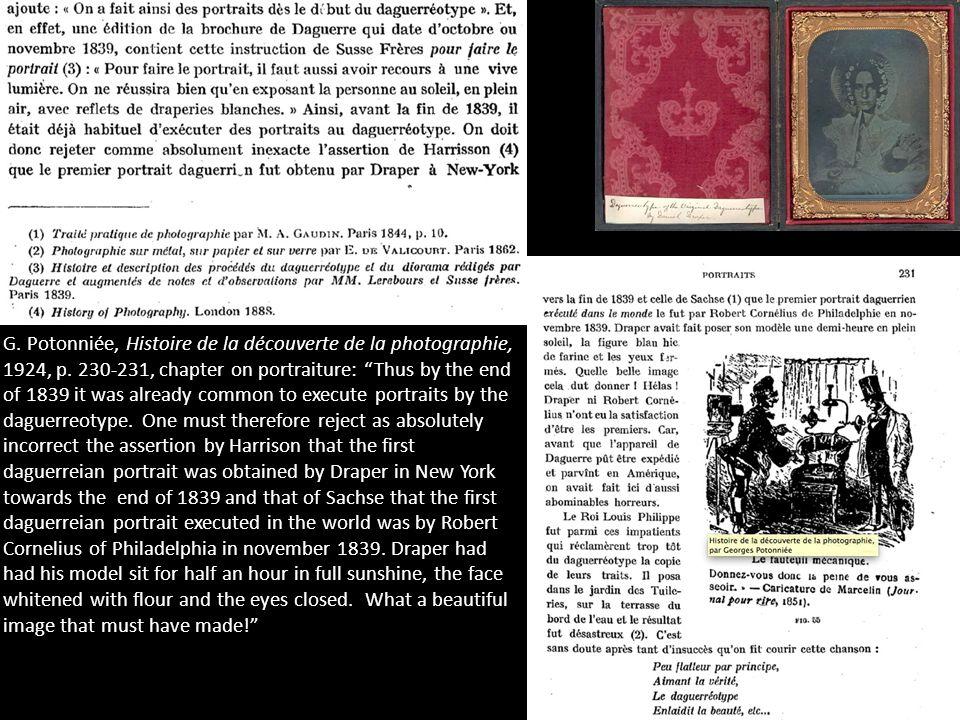 G. Potonniée, Histoire de la découverte de la photographie, 1924, p.