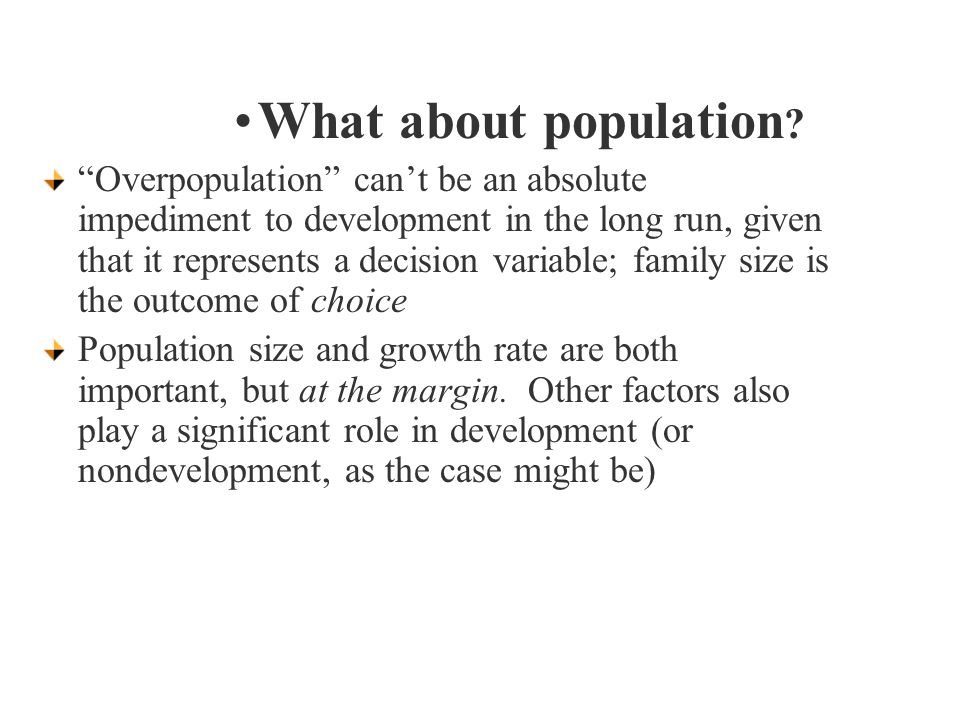 What about population .