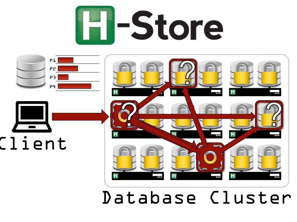 Client Database Cluster P1 P2 P3 P4