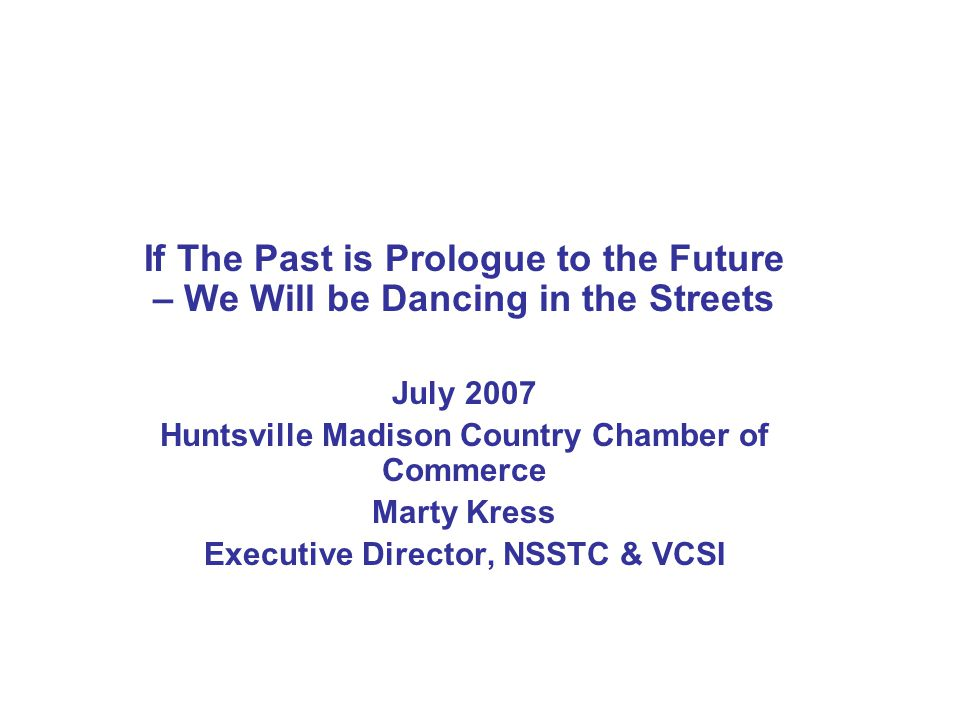 Role for Huntsville Based Organizations Active members/active supporters of VCSI – its goals and objectives Advocates for our value proposition– innovative R&D organization here in Huntsville Source of key competencies for VCSI programs and projects Help us expand R&D activities in the region – capitalize on IP and new business initiatives Help VCSI execute some new and innovative collaborative activities for federal clients