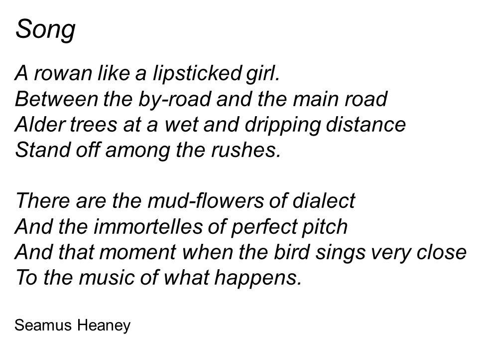 Song A rowan like a lipsticked girl.