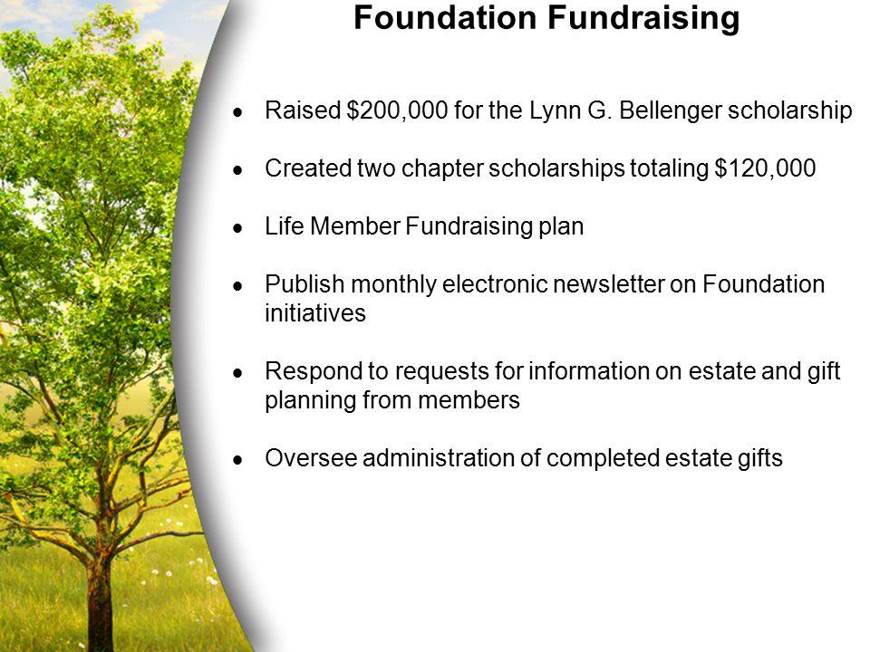 Foundation Fundraising  Raised $200,000 for the Lynn G.