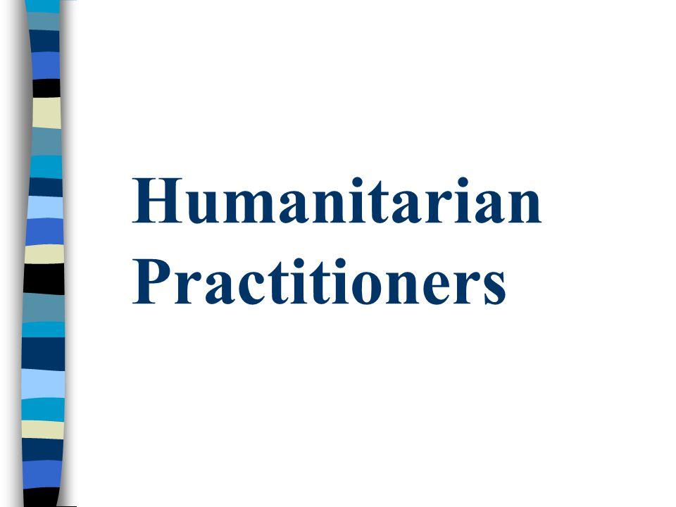 Humanitarian Practitioners