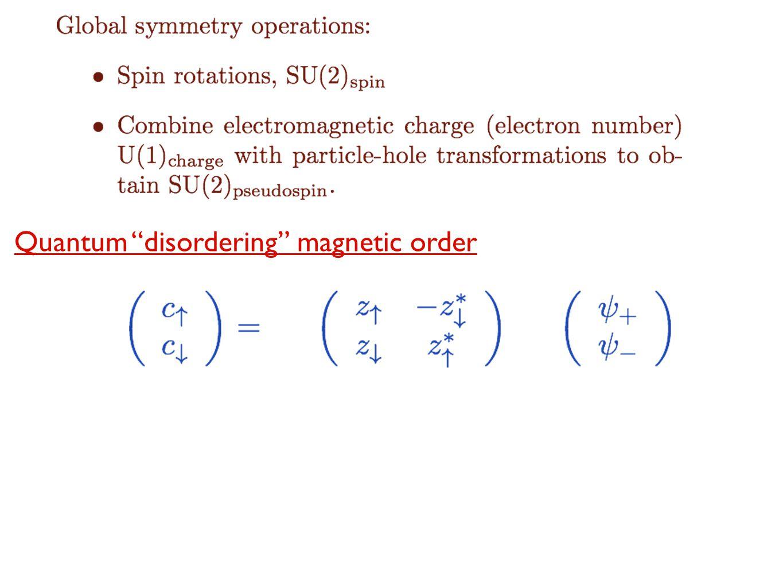 "Quantum ""disordering"" magnetic order"