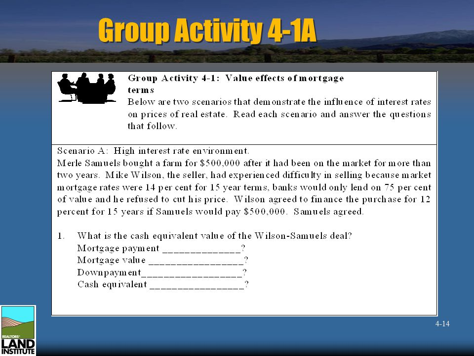 Group Activity 4-1A 4-14
