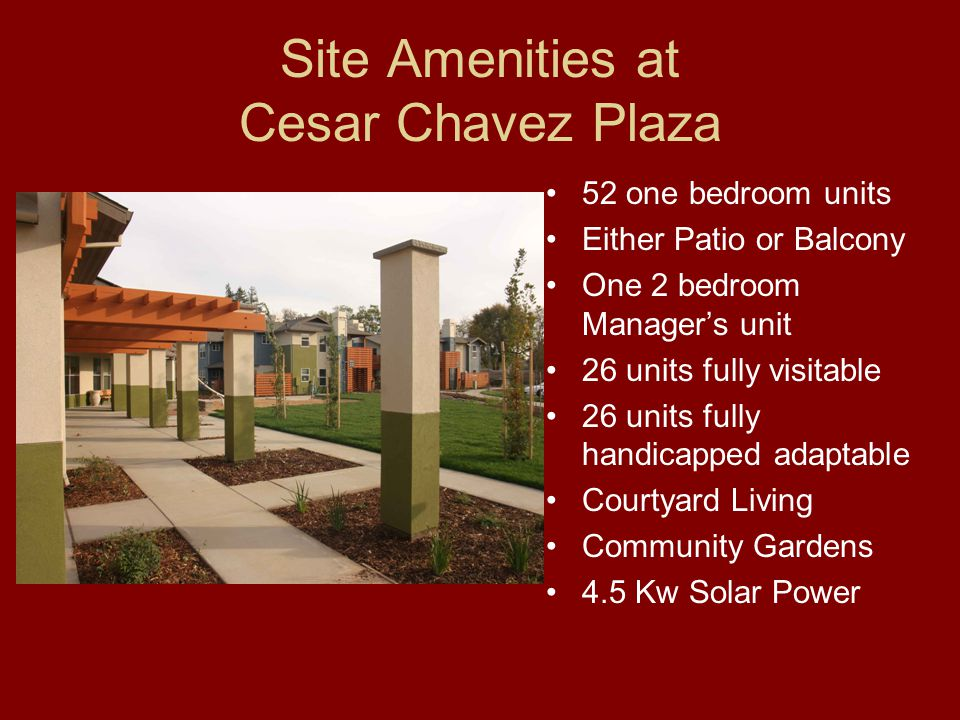 Community Facilities Cesar Chavez Plaza Helen M.