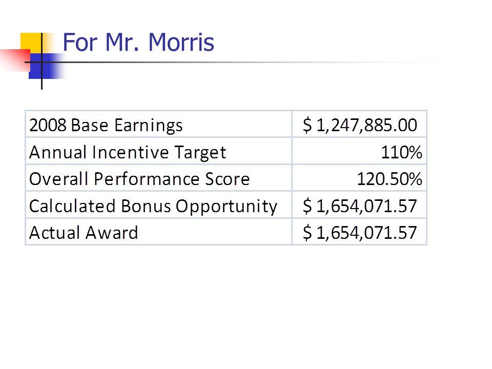For Mr. Morris