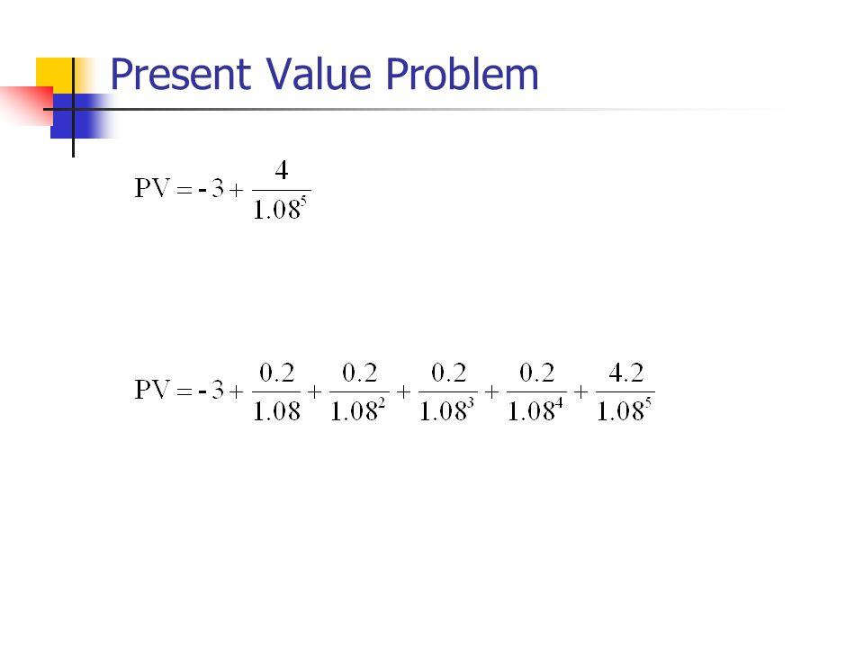 Present Value Problem