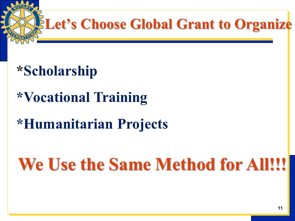 *Scholarship *Vocational Training *Humanitarian Projects We Use the Same Method for All!!.