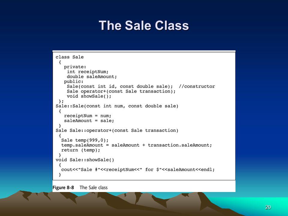 20 The Sale Class