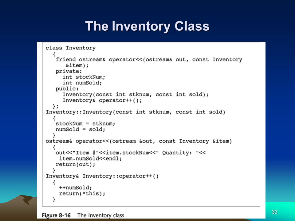 33 The Inventory Class